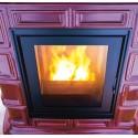 Poêle à pellets hydro - Marlène de Sergio Leoni - vue sur les flammes