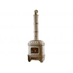 Poêle à bois en céramique sergio leoni modèle Castellana