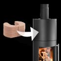 Ambiances Flammes poêle à bois modèle Salzburg easy de la marque Haas & sohn. Avec accumulateur de 70kg
