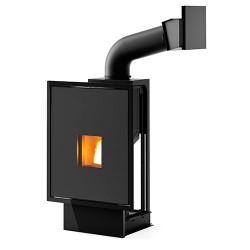 Foyer Hydro à granulés modèle vivo 85 de la marque MCZ avec cadre  Nobi ou sans cadre.