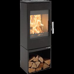 Ambiances Flammes poêle à bois modèle Gastein easy de la marque Haas & sohn