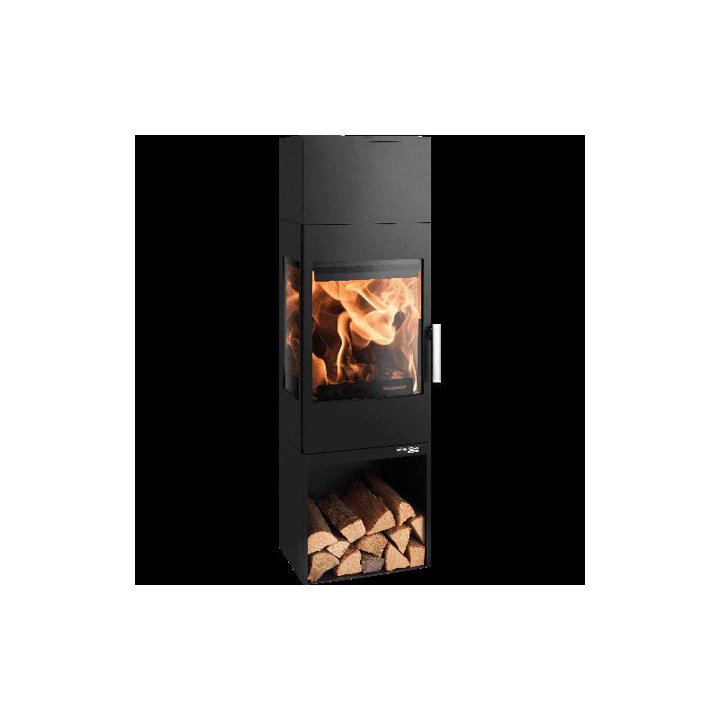 Ambiances Flammes poêle à bois modèle Salzburg easy de la marque Haas & sohn