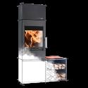Ambiances Flammes poêle à bois modèle Salzburg easy de la marque Haas & sohn. Module simple