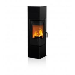 Ambiances Flammes poêle à bois forma RIKA acier noir