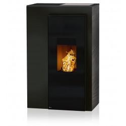 Ambiances Flammes miro acier noir faïence effet structuré noir RIKA granulés