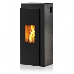 Ambiances Flammes kapo acier noir faïence effet structuré noir RIKA granulés