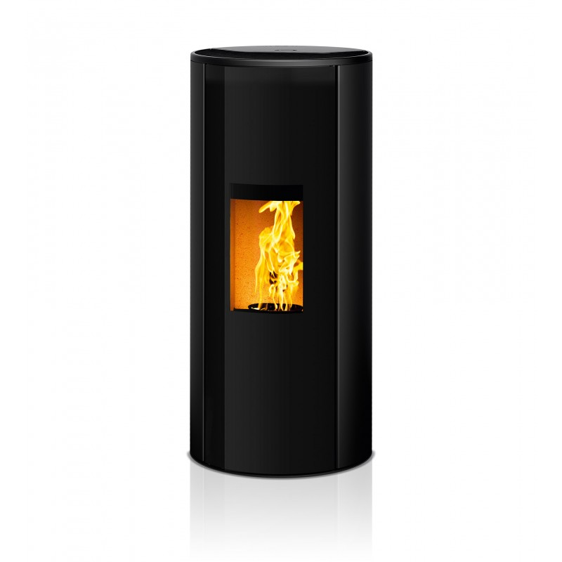 Ambiances Flammes corso acier noir RIKA granulés