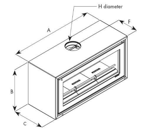 dimensions poêle à bois studio 2 stovax